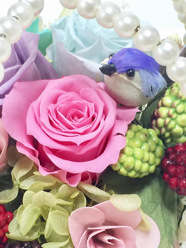 お花と鳥 アップs
